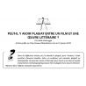 PEUT-IL Y AVOIR PLAGIAT ENTRE UN FILM ET UNE ŒUVRE LITTÉRAIRE ?