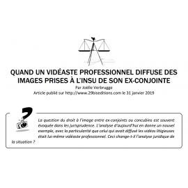 QUAND UN VIDÉASTE PROFESSIONNEL DIFFUSE DES IMAGES PRISES À L'INSU DE SON EX-CONJOINTE