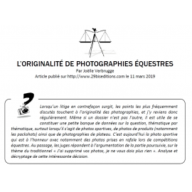 L'ORIGINALITÉ DE PHOTOGRAPHIES ÉQUESTRES