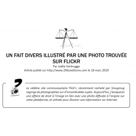 UN FAIT DIVERS ILLUSTRÉ PAR UNE PHOTO TROUVÉE SUR FLICKR