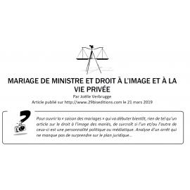 MARIAGE DE MINISTRE ET DROIT À L'IMAGE ET À LA VIE PRIVÉE