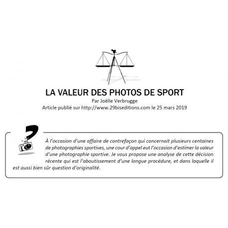 LA VALEUR DES PHOTOS DE SPORT