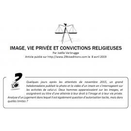 IMAGE, VIE PRIVÉE ET CONVICTIONS RELIGIEUSES