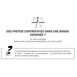 DES PHOTOS CONTREFAITES DANS UNE BANDE-DESSINÉE ?