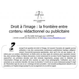 Droit à l'image : comment distinguer contenu publicitaire et contenu rédactionnel?