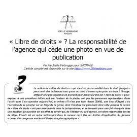 """""""Libre de droits"""" et responsabilité"""