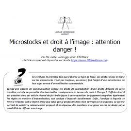 Microstock et droit à l'image : attention danger