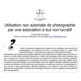 Utilisation non autorisée de photographies par une association à but non lucratif