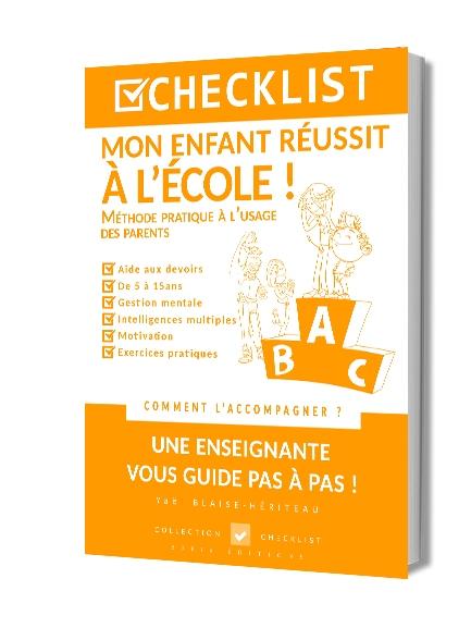 CHECKLIST MON ENFANT RÉUSSIT À L'ÉCOLE ! - Ebook